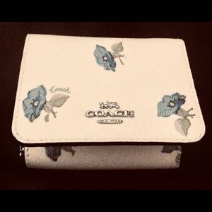 Coach dainty flower wallet